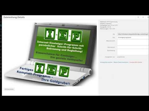 WordPress Grafik oder Bilder in der Blogmediathek hochladen und mit Keyword bestücken
