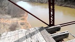 old bridge at mannsville Oklahoma