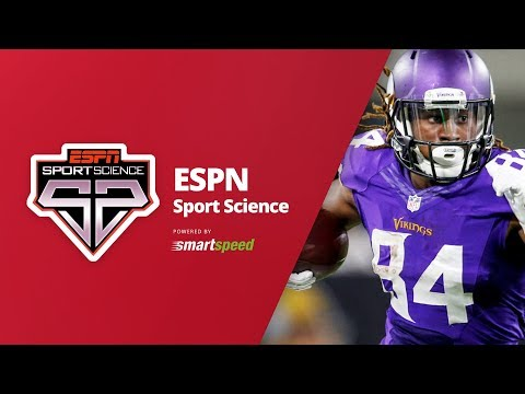 Sport Science Cordarrelle Patterson tested with SMARTSPEED
