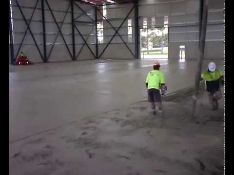 Warehouse Concrete Floor Pouring and Placement / Slab 1 Part 2