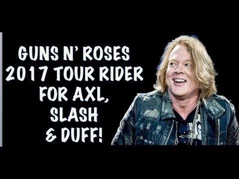 Guns N' Roses Backstage Area, Tour Riders 2018 Axl, Slash and Duff McKagan