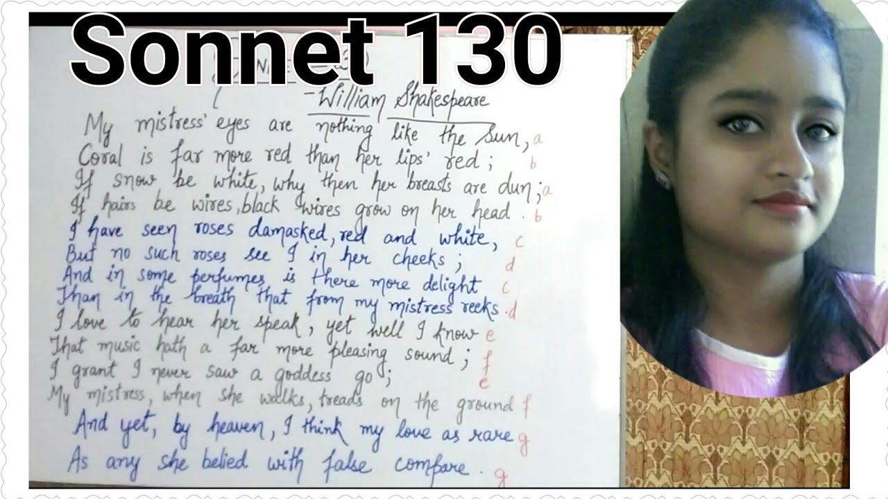 Shakespeare sonnet 130