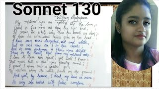 Sonnet 130 By William Shakespeare Explained In Hindi