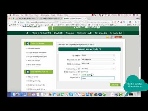 Cách Đăng Kí Tài Khoản Internet Banking Vietcombank 2017