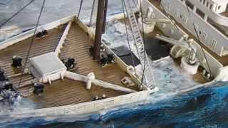 TITANIC SINKING and WRECK dioramas
