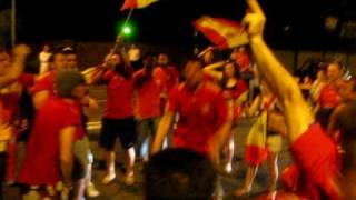 Estsport: Spanish fans in Germany after World Cup 2010 win