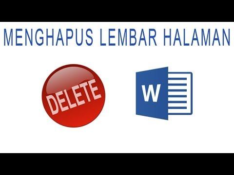 Cara Menghapus Section Break di Microsoft Word Cara Menghapus Halaman Section Break di Microsoft Word tutorial microsoft....