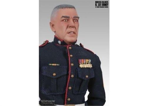R Lee Ermey Action Figure Dress Blue Gunnery SGT...