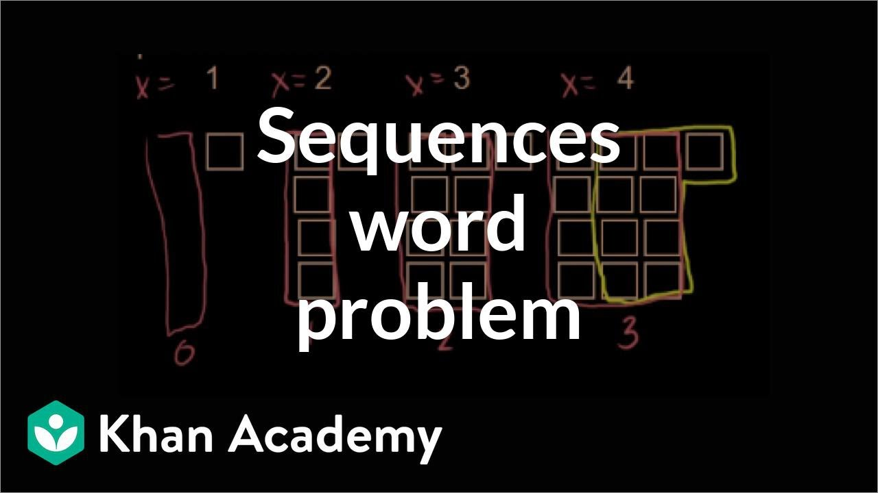 medium resolution of Sequences word problem: growth pattern (video)   Khan Academy
