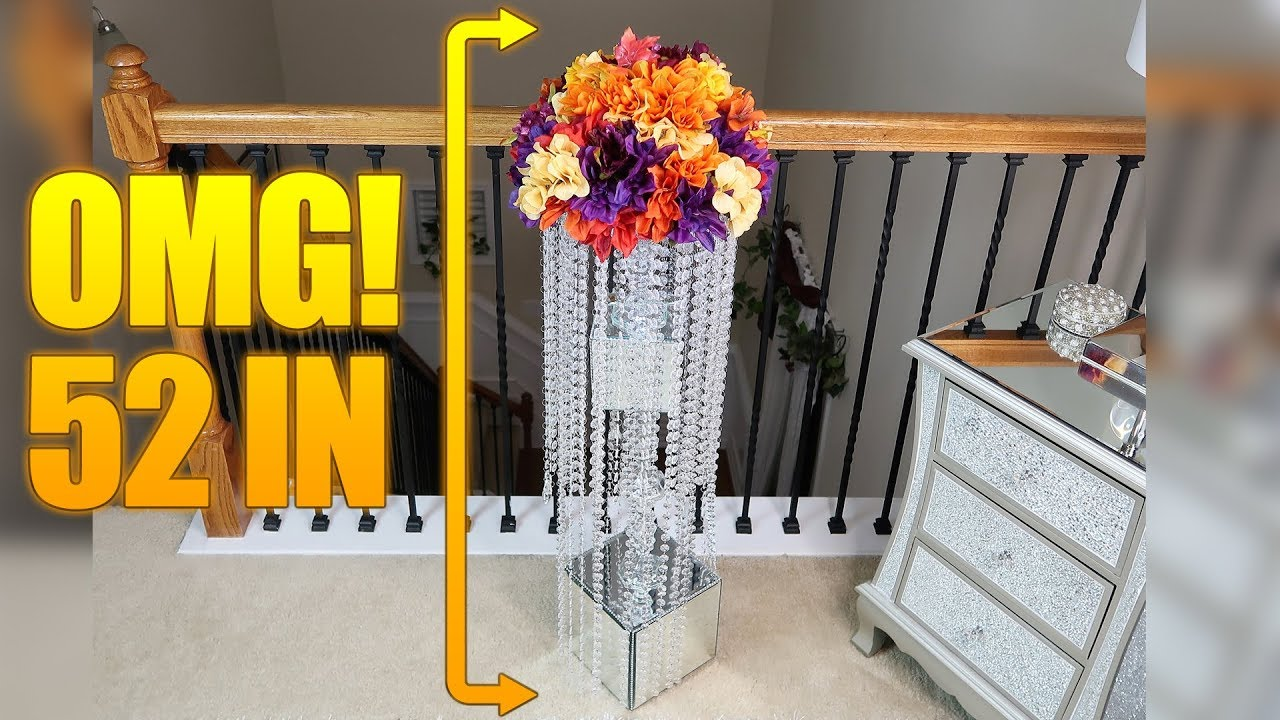 How To Diy A Dollar Tree Upscale 50 Inch Mirrored Chandelier Aisle Riser