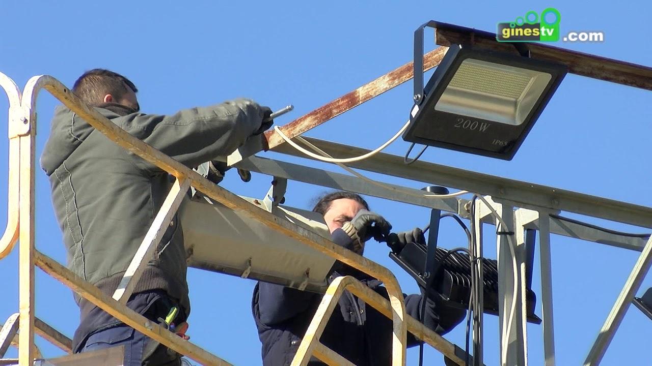 Las instalaciones deportivas de Gines reducirán su consumo un 50% con la instalación LED