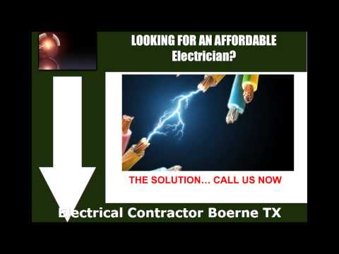Electrical Contractor Boerne TX - Ring us at (210) 757-4378