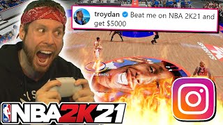 I challenged Instagram on NBA 2K21 for $5000