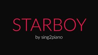 STARBOY (Piano Karaoke Instrumental) The Weeknd