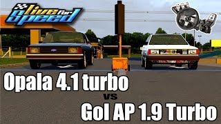 Live For Speed - Gol AP 1.9 vs Opala 4.1 - Racha Insano - (G27 mod)