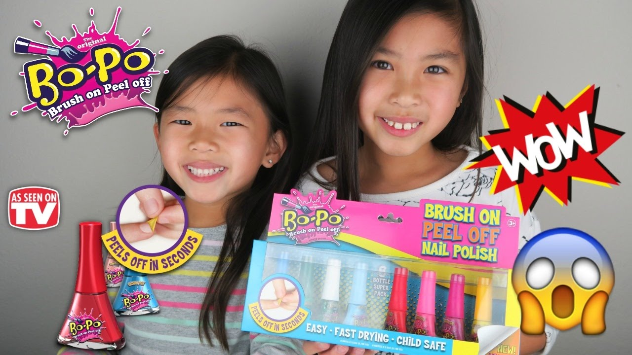 Bo-Po Brush On Peel Off Nail Polish For Kids   As Seen on TV Nail ...