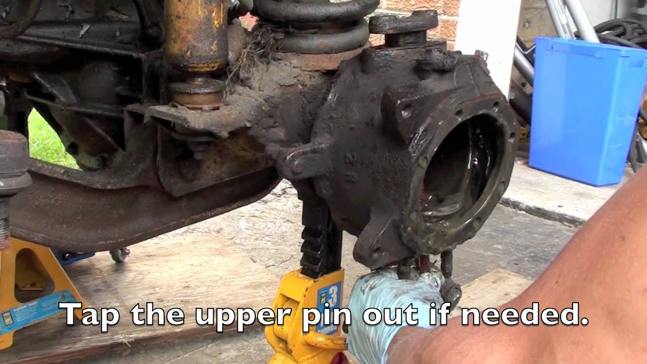 small resolution of toyota front knuckle hub and brake service overhaul video 1 removal youtube