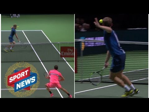 David Goffin has 'scary' accident on court, withdraws from Rotterdam - VIDEO