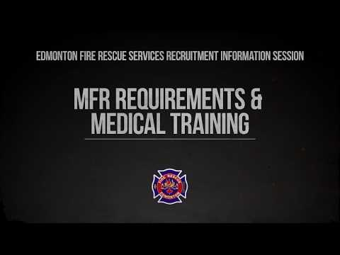 EFRS Recruitment Information Session: MFR Requirements & Medical Training