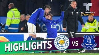 Leicester City Vs. Everton: 2 1 Goals & Highlights | Premier League | Telemundo Deportes
