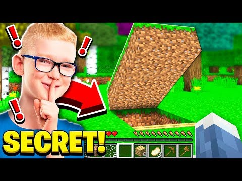 My LITTLE BROTHER'S **SECRET** BASE in Minecraft!