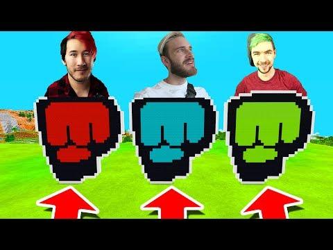 Minecraft PE : DO NOT CHOOSE THE WRONG BROFIST! (Markiplier, Pewdiepie & Jacksepticeye)