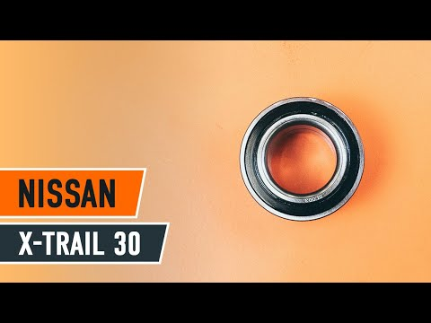 How to replace front wheel bearing NISSAN X-TRAIL T30 TUTORIAL | AUTODOC