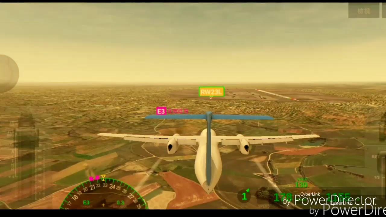 Airline Commander飛機遊戲 完美降落臺灣桃園國際機場TPE DHC-8簡易降落 - YouTube