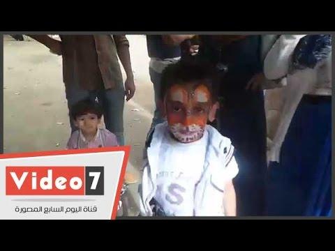 اليوم السابع : بالفيديو.. رسم علم مصر على وجه الأطفال بحديقة الحيوان فرحا بنصر أكتوبر