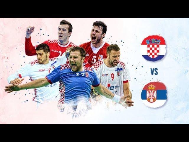 EHC 2018 - Hrvatska - Srbija 32:22 | HIMNE I ATMOSFERA UŽIVO