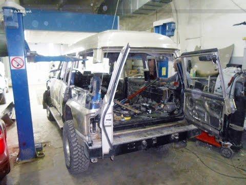 не последнее внедорожное сафари. кузовной ремонт перевертыша и покраска в раптор
