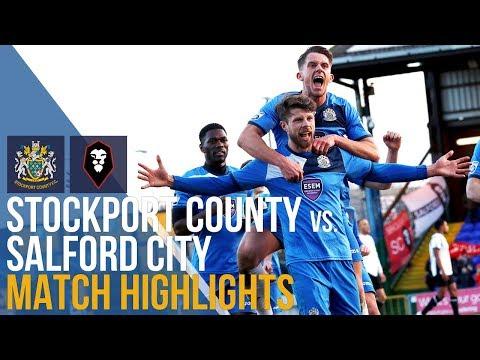 Stockport County Vs Salford City - Match Highlights - 06.01.2018