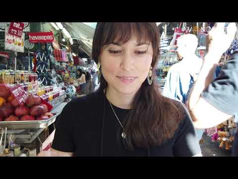 Carmel Market Tel Aviv Israel 4k