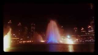 Dubai fountain 2015 thriller water show 4K