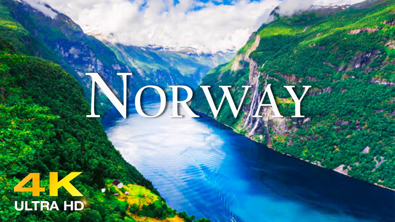 FLYING OVER NORWAY 4K UHD Amazing Beautiful Nature Scenery with Relaxing Music  4K VIDEO ULTRA HD
