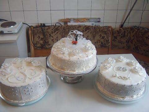 медовый бисквит и Свадебный торт .