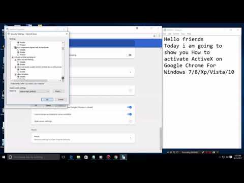 How to activate ActiveX on Google Chrome For Windows 7 ,8,Xp,Vista,10
