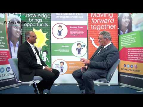 In conversation with Steve Lawrence @EevtSteve about  opportunities in the apprenticeship sector