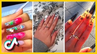 Acrylic Long Nails Tutorial | Nail Art March 2021 | TikTok Compilation
