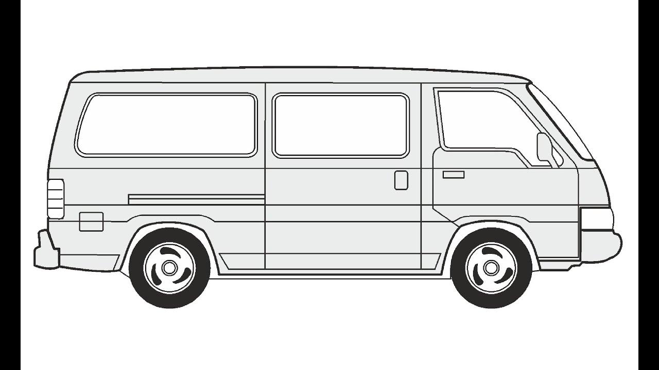 раскраска микроавтобус хендай