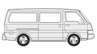 How to Draw a Nissan Urvan / Как нарисовать Nissan Urvan