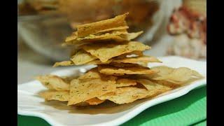 Чипсы из тонкого лаваша с разными вкусами