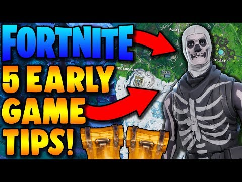 How to Survive the Early Game in Fortnite - 5 Early Game Tips!
