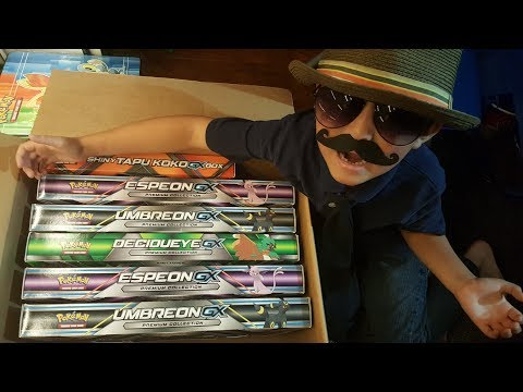 Opening UMBREON GX PREMIUM COLLECTION BOX!! What Suprise Will We Pull?! Can Carl Win This Battle?!!