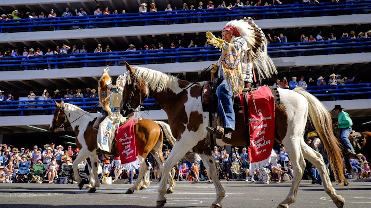 First Nations Chiefs Help Kick Off Calgary Stampede Youtube