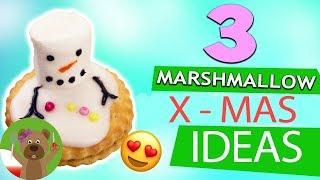 3 pomysły z piankami Marshmallow na adwentowy deser   bałwanki i reniferki