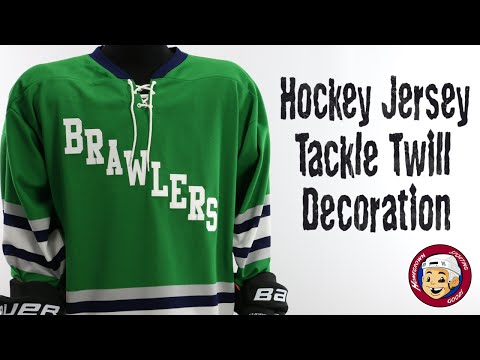 Hockey Jersey Tackle Twill Decoration | Sewn Logos & Numbers - Homegrown Sporting Goods
