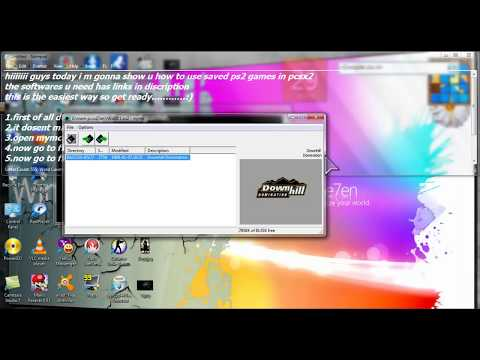 how to use a download save in pcsx2