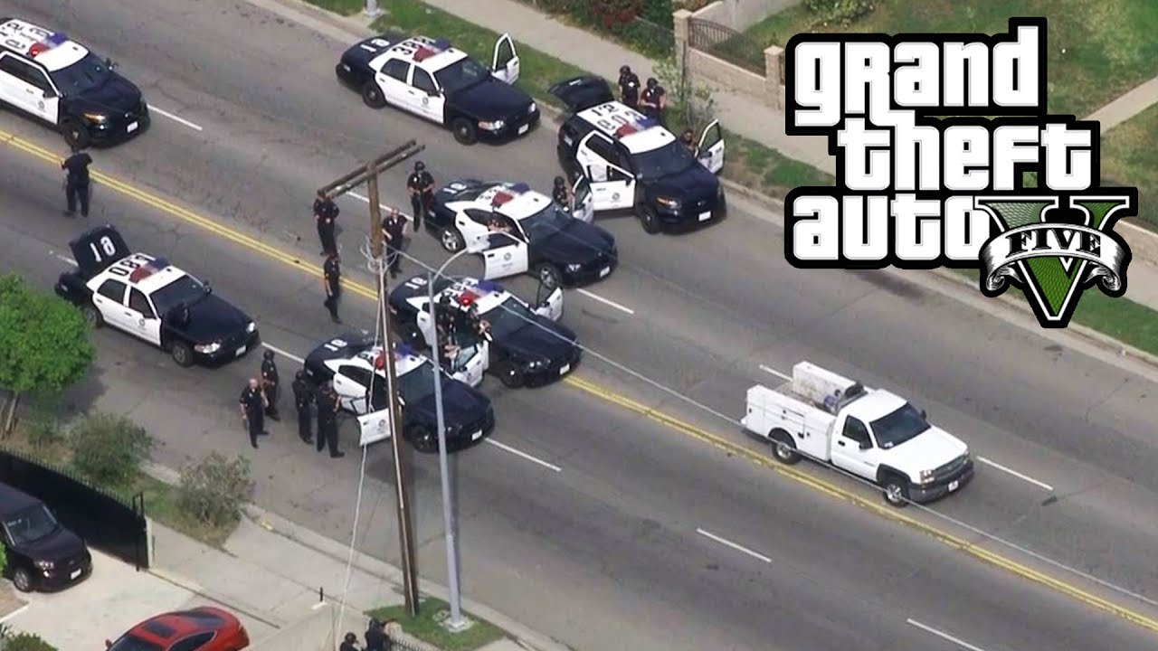 Unbelievable Police Chase  Units Biggest Gta  Stars Police Chase Ever