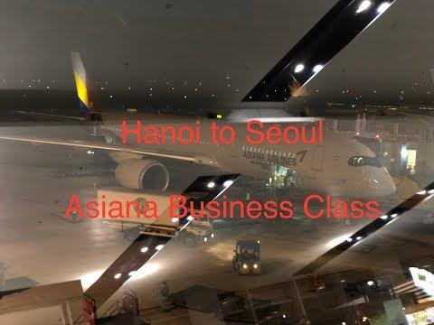 Hanoi to Seoul, Asiana Business Class